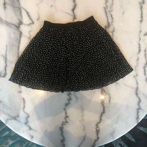 H&M Skirts - Polka Dog Pleated Mini Skirt